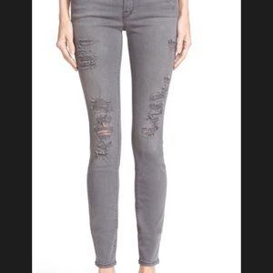 Frame Le Skinny de Jeanne jeans Sz 29 Grey Shred